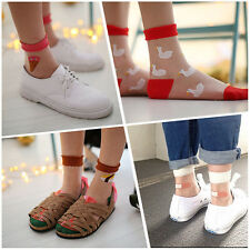 1 xCute Elastic Casual Ultra-thin Transparent Crystal Silk Sock Short Ankle Sock