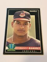 1992 Pinnacle Baseball Rookie Card #295 - Manny Ramirez RC - Cleveland Indians
