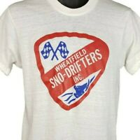 Wheatfield Sno Drifters T Shirt Vintage 80s Snowmobiling Made In USA Size Large