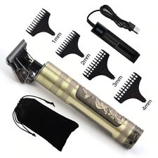 Professional Hair Clippers Trimmer Mens Barber Hair Cutting Kit Shaving Machine