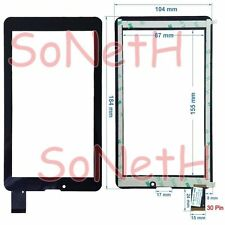 "Vetro Touch screen 7,0"" C700247FPVA TPS0067-7 TPS0014-7 3G Tablet PC Nero"