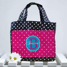 Personalised Ladies Initial Spotty Cool Lunch Bag Box Insulated Tote MG25