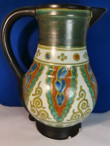 "Antique ART DECO Gouda Pottery Attractive Decorative ""Collier Design"" Jug c.1922"