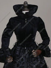Black Renaissance Faire Game of Thrones Regal Velvet Dress Gown Steampunk 331 Xl