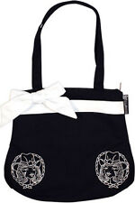 78016 Black & White Cowgirl Tote Bag Purse Sourpuss Rockabilly Rock-A-Billy NEW
