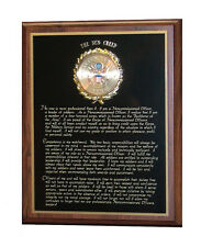 UNITED STATES ARMY NCO NON COMMISSIONED OFFICER CREED WALL PLAQUE - GIFT AWARD