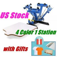 US Stock 4 Color 1 Station Screen Printing Press Machine Screening Pressing