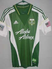 NEW! ADIDAS PORTLAND TIMBERS MLS GREEN FORMOTION SOCCER JERSEY SZ SMALL -NICE!