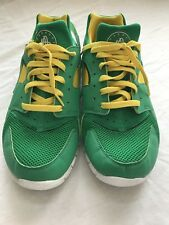 Nike Huarache Free 2012 Court Grn Yellow Oregon Brazil Packers Sz 10 487654  338 624ec8c55