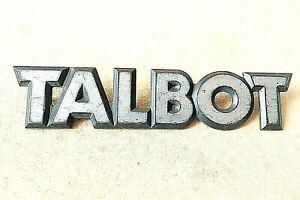 TALBOT CAR BADGE Black & silver plastic 15cm