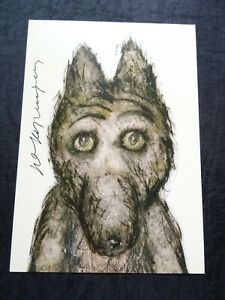 Tale of Tales Autograph Yuri Norstein HAND Signed print Norshteyn Volchok Wolf