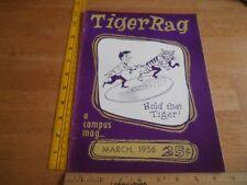 LSU Tiger Rag 1956 campus magazine Pastime Lounge  V1 #1 Gordon Theater