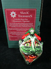 """Halloween Glass Ornament """"Too Much Candy"""" SlaviC TreasureS Vintage Collectible"""