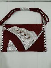 "Pulicati Italian Leather & Suede Women's Handbag Purse Shoulder Bag 8 x 12 "" VTG"