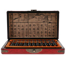 Abaque Boulier Soroban Arithmétique 11 Barres avec Boîte Antique Sculpté