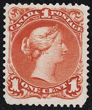 Canada 1c Large Queen, Scott 22b, VF unused, catalogue - $1,200