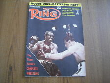 THE RING - BOXING MAGAZINE - AUGUST 1961 - ARCHIE MOORE, EMILE GRIFFITH