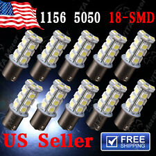 10x Yitamotor White 1156 18-SMD RV Camper Trailer LED Interior Light Bulbs 7503