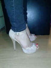 Cathy Jean Lace High Heels