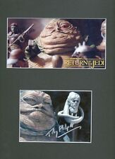 TOBY PHILPOTT Signed 12x9 Photo Display JABBA THE HUTT In STAR WARS  COA