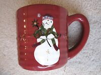 TRACY PORTER Christmas Jingle Bell Let's Hang Mistletoe Cherry Red MUG Excellent