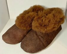 "Handmade Peruvian Unisex Baby Alpaca Leather Slippers Booties""Brown""Choose Size"