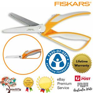 Fiskars Pinking Shears - Easy-Action Zig Zag Scissors, Bent Handle - Arthritis