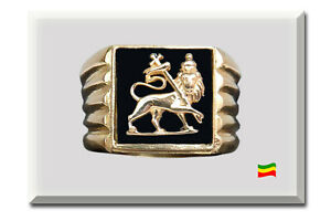 Lion of Judah Gold 22 Carat Ring Handmade Customized Bob Marley style