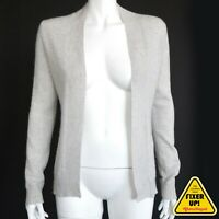 Lord & Taylor Gray 100% Cashmere Cardigan Sweater (NEEDS TLC) Women's XS - 484