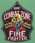 BAGHDAD IRAQ COMBAT ZONE FIRE FIGHTER OIF PATCH LARGER SIZE