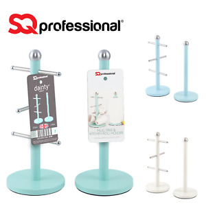 Free Standing Steel Kitchen Roll Holder And Mug Tree Paper Towel Cups Holder