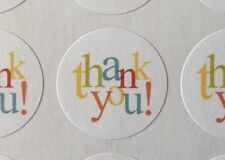#513 Thank You In Colors! Envelope Seals Labels Stickers Celebrations Business