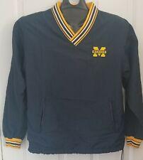 Vintage 90s V Neck University Of Michigan Champion Windbreaker Pullover Jacket