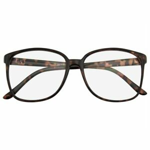 GLASSES CLEAR Mens Womens Retro Large Oversized Geek Fashion Thin Frame Glasses