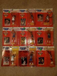1994 & 95 Starting Lineup NBA Lot of 9 (Malone, Starks, Ewing, & More)