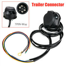 150CM 7PIN-Way RV Trailer Socket Plug Cable Round Wiring Adapter Truck Connector