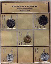 Serie Lire 5 Monete Repubblica Italiana FDC 1971 100, 50, 20, 10. 5 lire