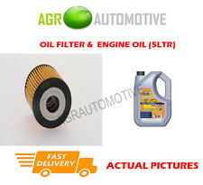 PETROL OIL FILTER + LL 5W30 ENGINE OIL FOR SMART ROADSTER 0.7 101 BHP 2004-06