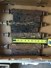 LOT OF 4 MASSIVE 4 ANTIQUE Steeple Point SPRING HINGES