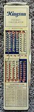 Mateal Vintage Kingson Pocket Calculator, free EXPRESS AU