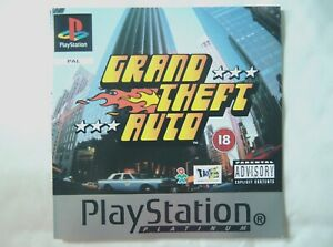 61160 Instruction Booklet - Grand Theft Auto - Sony PS1 Playstation 1 (1997) SLE