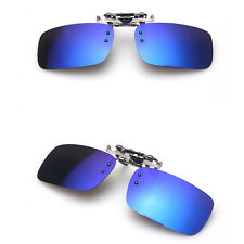 UV400 Clip On Flip-up Driving Glasses Sunglasses Polarized Day Night Vision Lens