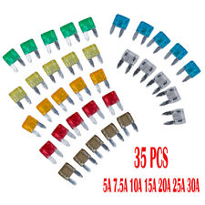 35 Piece MIXED Mini Blade Fuse AUTO Car Motorbike 5 7.5 10 15 20 25 30 AMP