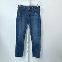 AE American Eagle Women Size 2 Hi Rise Jegging Crop Jeans Super Stretch