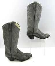 Ladies Dan Post Gray Snake Skin Western Cowgirl Boots Size : 6.5 C Wide Width
