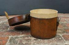 Tall Victorian Leather Collar Box Jewellery Case