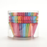 100X Mini Rainbow Paper Baking Cups Cupcake Liners Muffin Cupcake Paper Cases Dz