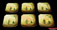 6 Royal Doulton Dickens Relief Ware Artful Dodger & Oliver Twist Side Plates L7Y