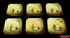 6 Royal Doulton Dickens Relief Ware Artful Dodger & Oliver Twist Side Plates L7Y