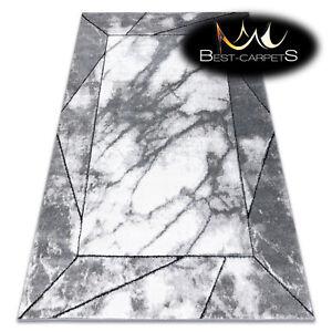 Amazing Designer structural soft Rug 'COZY' Cadre marble frame grey Best Quality